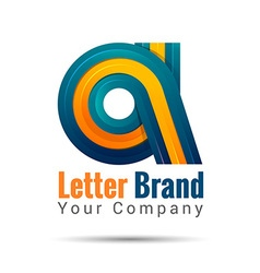 Business corporate letter A logo design template vector image vector image