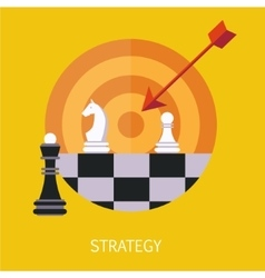 Business Strategy Concept Art vector image