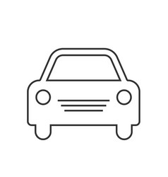 car icon simple front car logo vector image