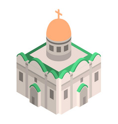 cathedral church icon isometric style vector image