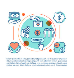 Charity concept linear vector