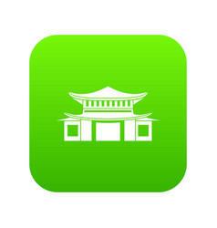 chinese icon digital green vector image