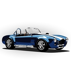 classic sport car cobra roadster blue vector image