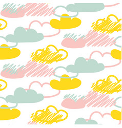 clouds seamless baby pattern vector image