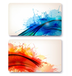 Collection of colorful abstract watercolor vector image vector image