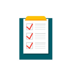 completing checklist on clipboard vector image