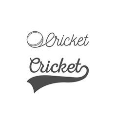 Cricket lettering vector