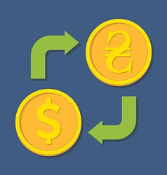 Currency exchange Dollar and Hryvnia vector image
