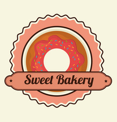 Delicious bakery products icon vector