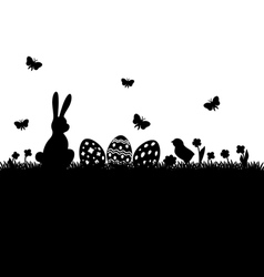 easter black silhouette vector image