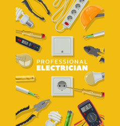 Electricity electrical tools and instruments vector