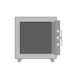 empty open safe vector image