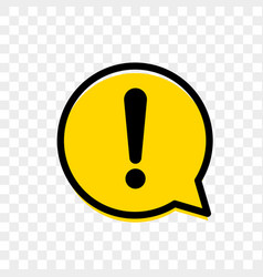 Exclamation mark of warning attention icon vector