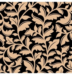 Floral seamless pattern with flourish elements vector image
