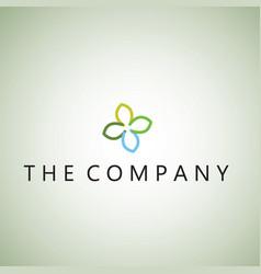Flower logo ideas design vector