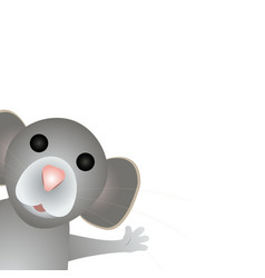 funny rat mouse symbol 2020 vector image