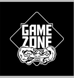 Game zone sign logo design vector