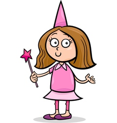 girl in fairy costume cartoon vector image vector image