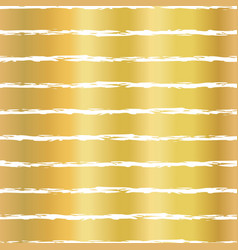 gold foil horizontal lines seamless pattern vector image