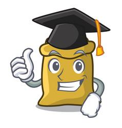 Graduation flour character cartoon style vector