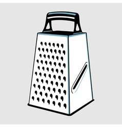 Grater with handle vector