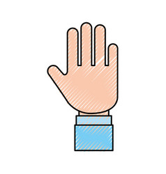 Hand human stop icon vector