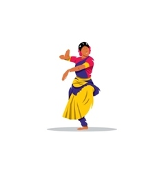 Hindu girl sign Brunette indian dancer princess vector image