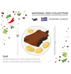 Icelandic cuisine european national dish vector