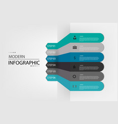 info graphic design vector image