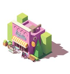 Isometric ice cream shop vector