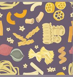 italian pasta food set pattern vector image