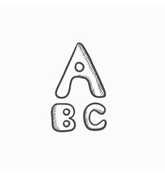 Letters painted in bold sketch icon vector image