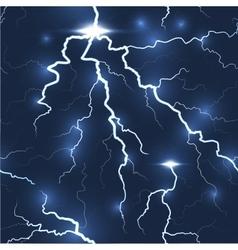 Lightning flash strike seamless dark background vector image