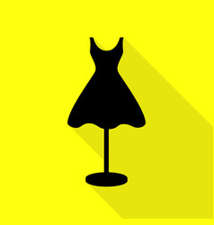 mannequin with dress sign black icon with flat vector image