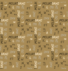 Melbourne pattern seamless design vector