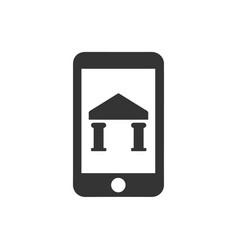 Mobile bank icon vector