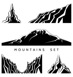 Mountains silhouettes set vector