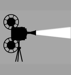 Movie cine projector vector