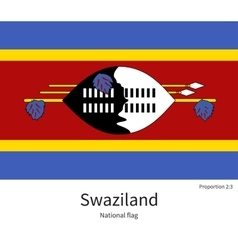 National flag of Swaziland with correct vector