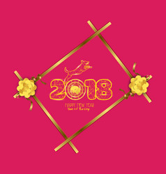 new years 2018 polygonal line light background vector image