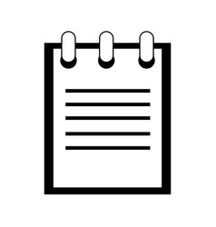 notepad pictogram icon image vector image
