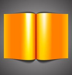 open blank magazine vector image