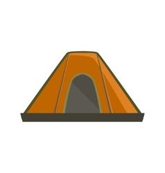 Orange Tarpaulin Camping Tent vector image