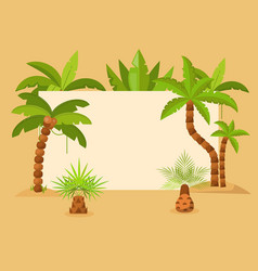palm trees frame summer vector image