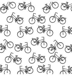 Pattern bicycle poster icon vector