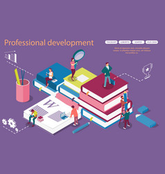 personal development concept banner with vector image