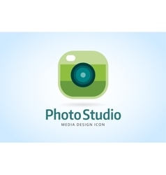 Photo camera icon template Photographer logo vector image