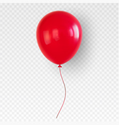 Red helium balloon birthday baloon flying for vector