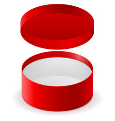 red round box vector image