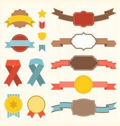 ribbon and badges set 3 vector image